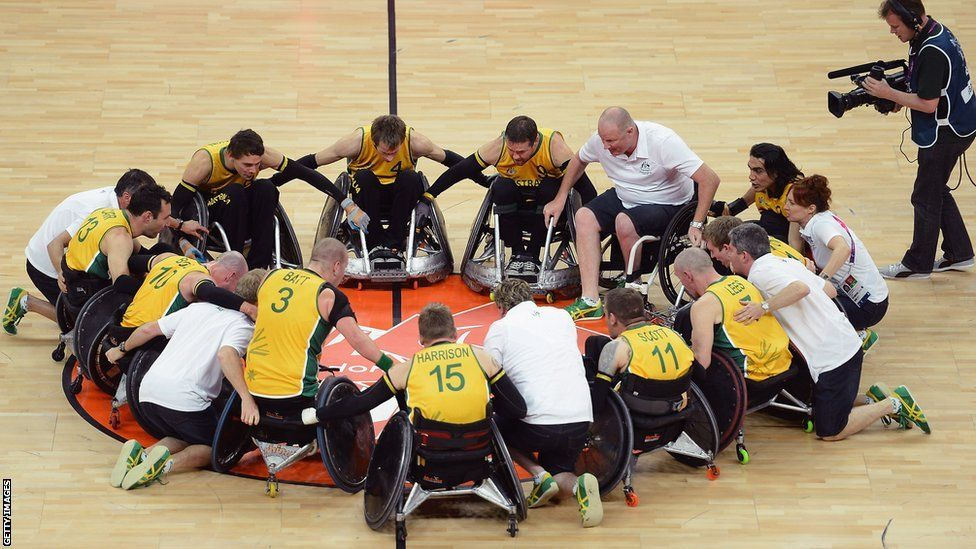 Wheelchair rugby Paralympics, Bbc sport, Rugby team