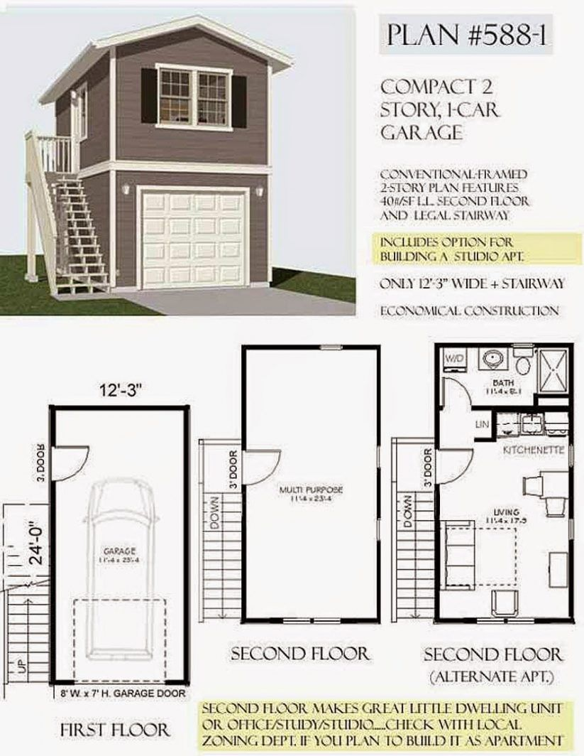 One Story Garage Apartment Luxury Two Story Garage Plans With Apartments Two Car Detached G Garage Plans With Loft Garage Apartment Plans Garage Apartment Plan