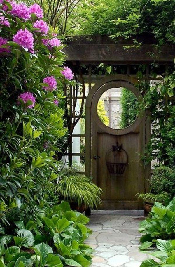 Gartengestaltung Ideen Ein Altes Tür Im Garten   30 Gartengestaltung Ideen  U2013 Der Traumgarten Zu Hause