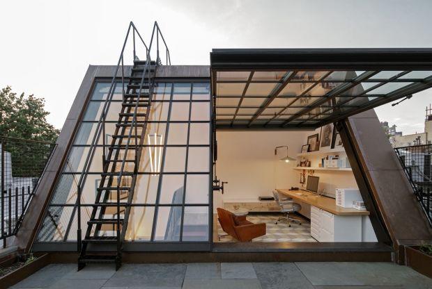 This Rooftop Home Office In NYC Is Epic | Ideen fürs Zimmer, Wohnen ...