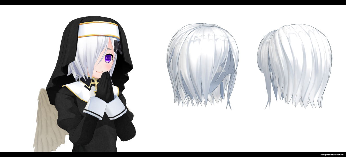 Cm3d2 Short Hair Over One Eye By Kaahgomedl