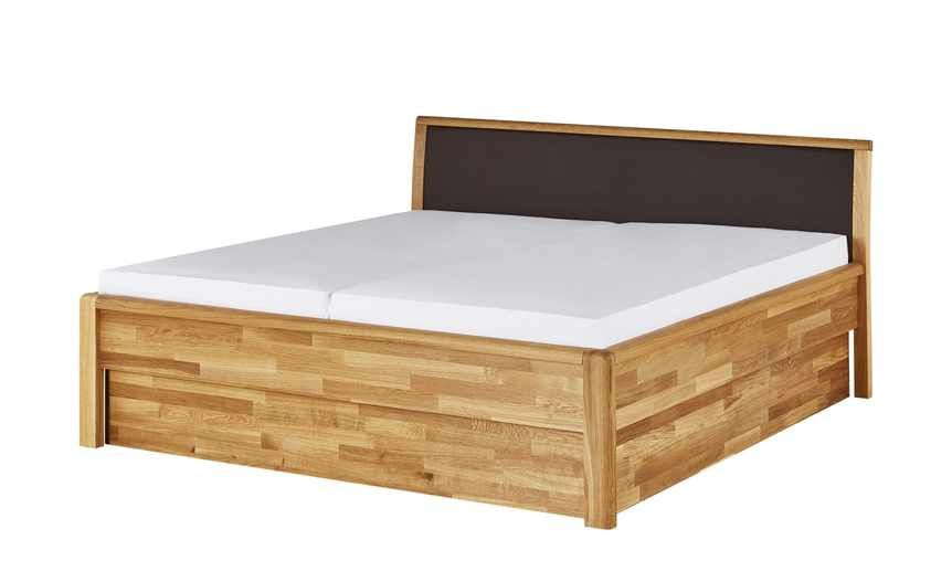Massivholzbettgestell 180x200 Eiche Alice Holzfarben Masse Cm