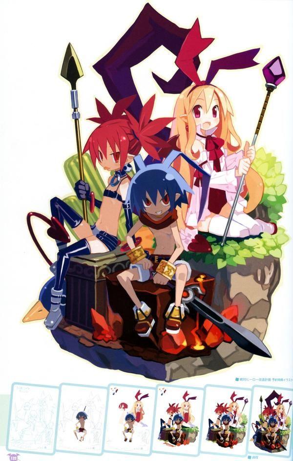 Dark Illusion Disgaea Anime Character Design