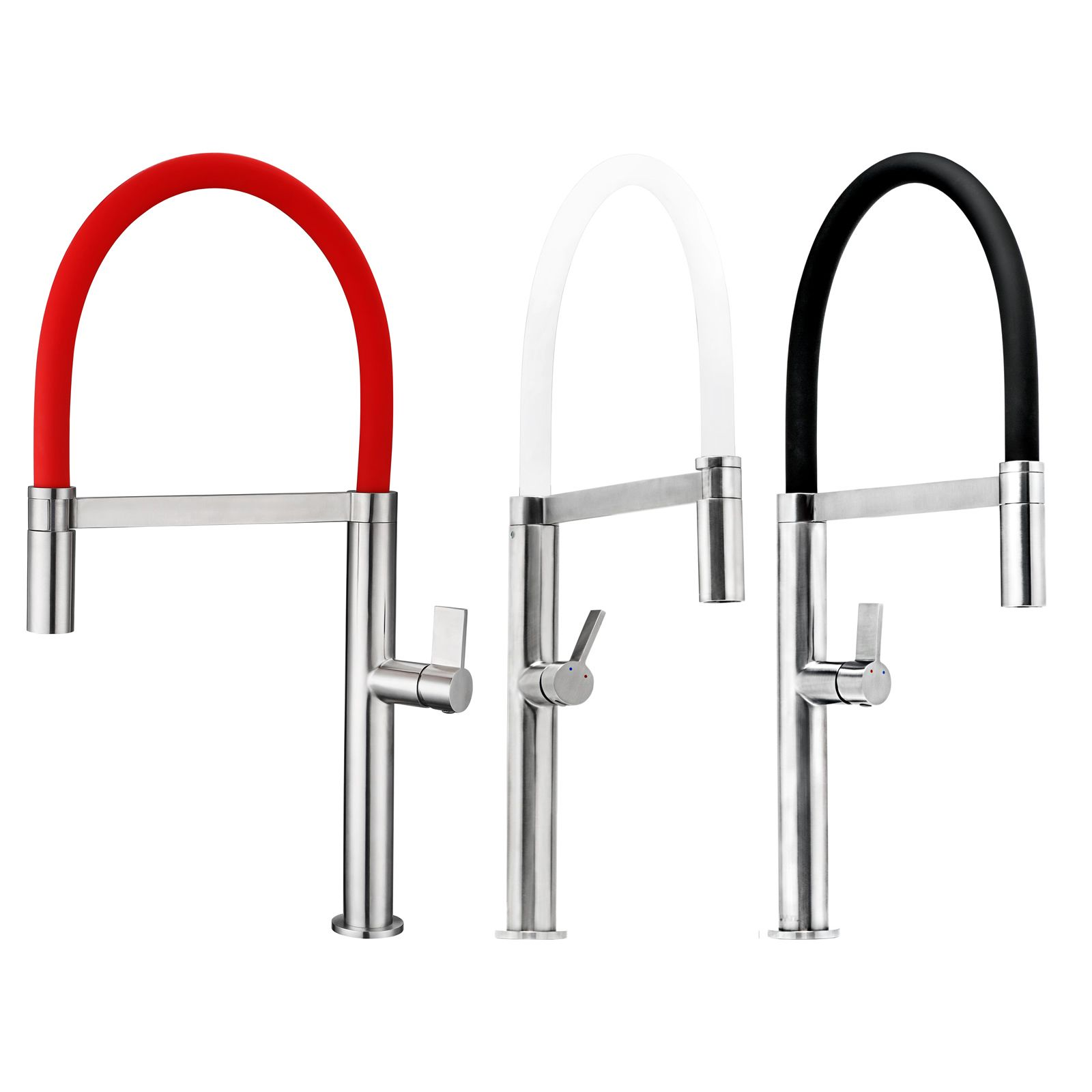 red kitchen faucet ruvati rvf1271st color swatch flexible pull down kitchen faucet black red or white black 4225