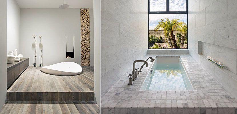 Bañeras encastradas en el suelo para un baño único ...