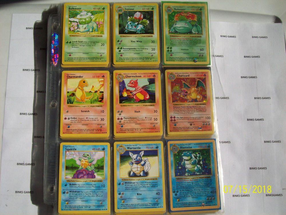 Pokemon card set base fossil jungle 1151 original 1st