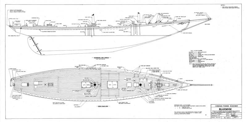 The Schooner Bluenose Plans - Model Ship Builder | Andy's Boat Building | Pinterest | Boating ...