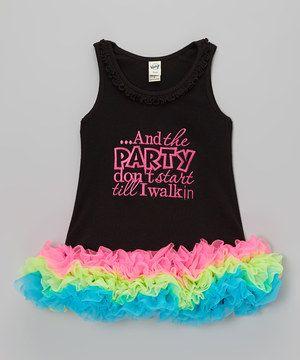 Sparkle Baby Sparkle Black & Hot Pink 'Party' Ruffle Dress - Infant, Toddler & Girls by Sparkle Baby Sparkle #zulily #zulilyfinds