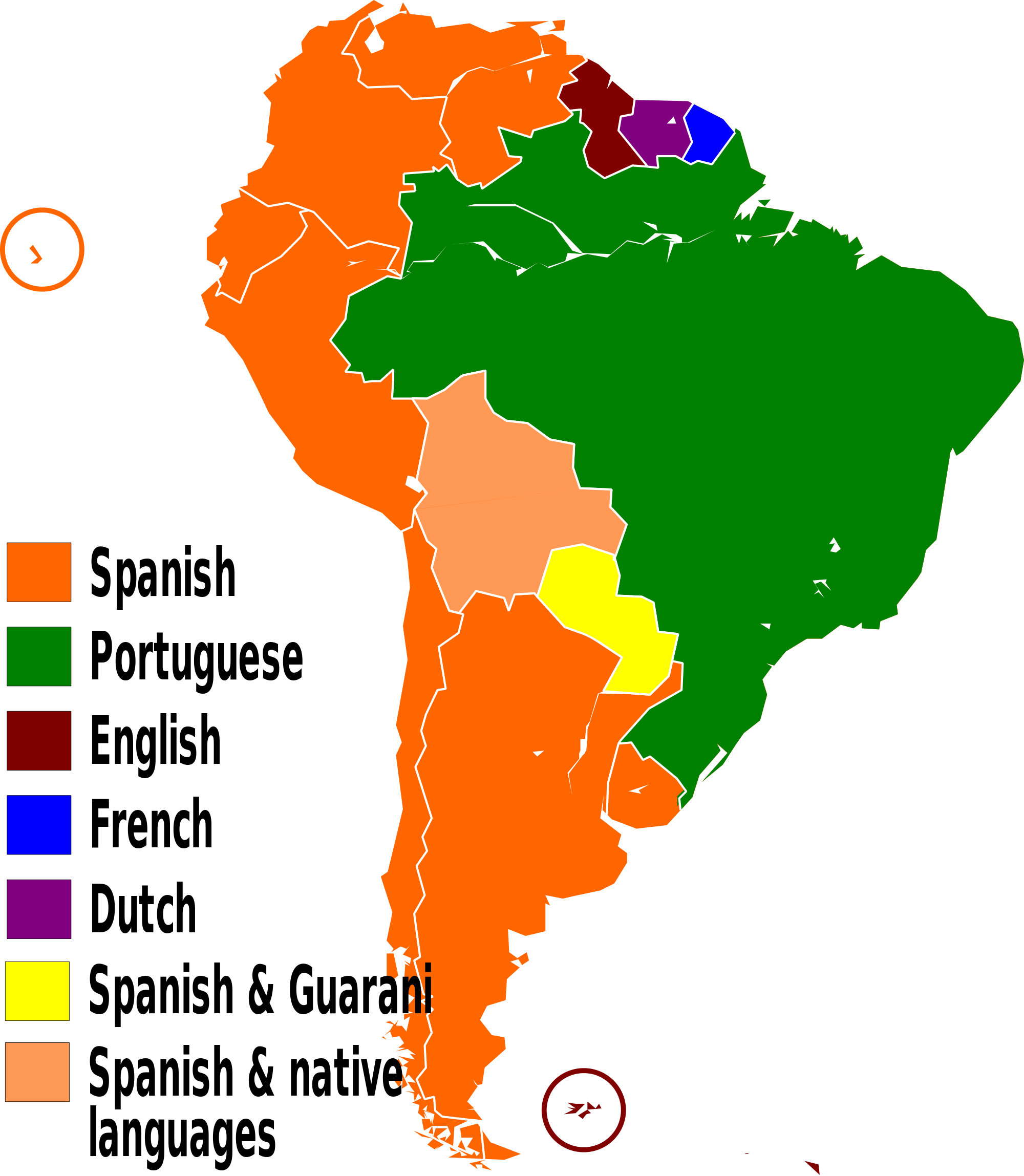 2000px Languages Of South America En Svg Png 2000 2297 South America Facts South America Continent Facts For Kids
