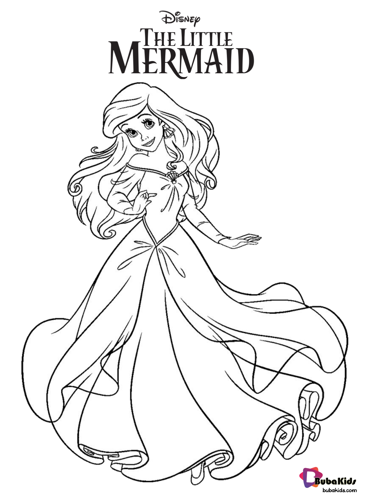 Free Printable Ariel The Little Mermaid Coloring Pages