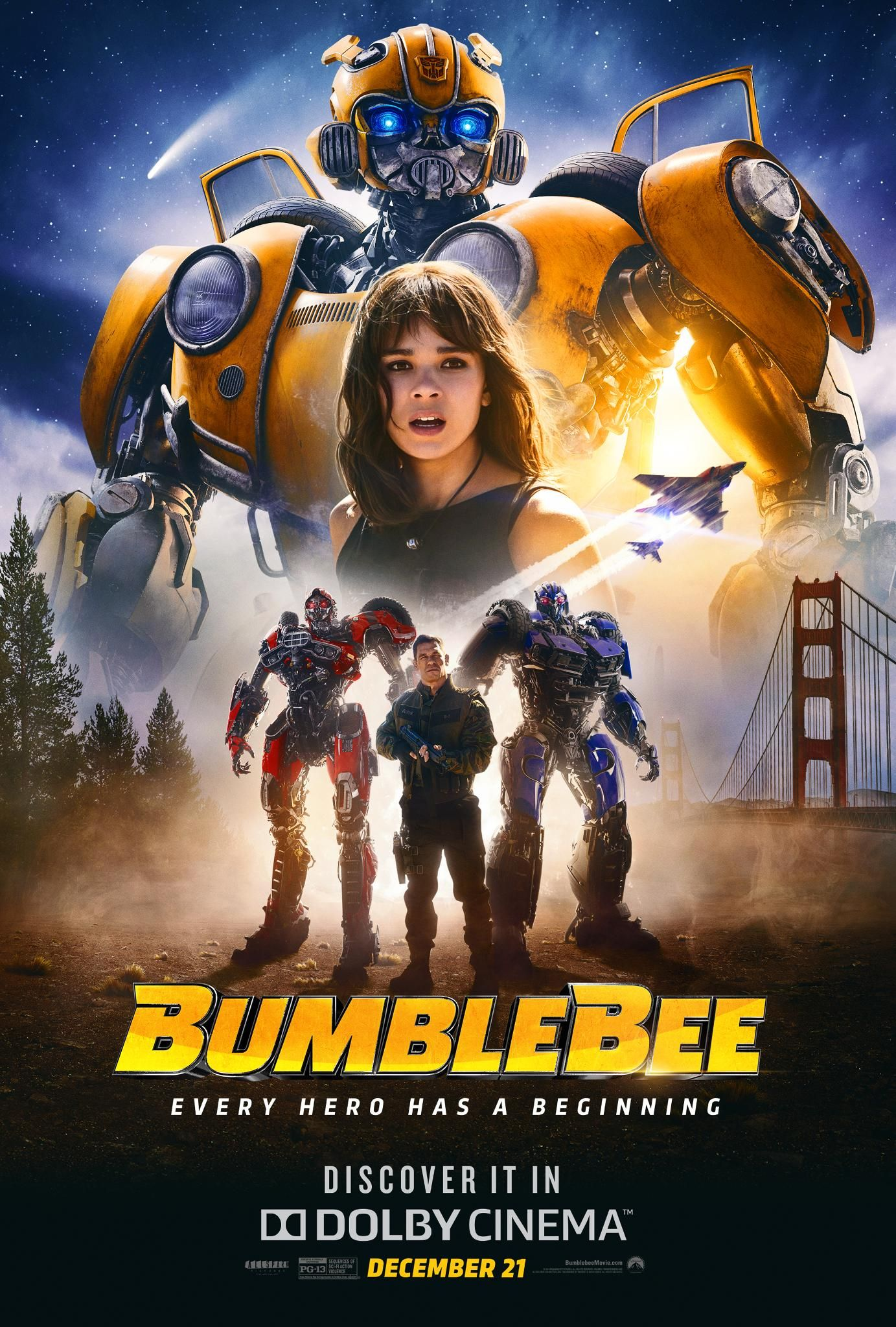 bumblebee official poster arrives latest movies