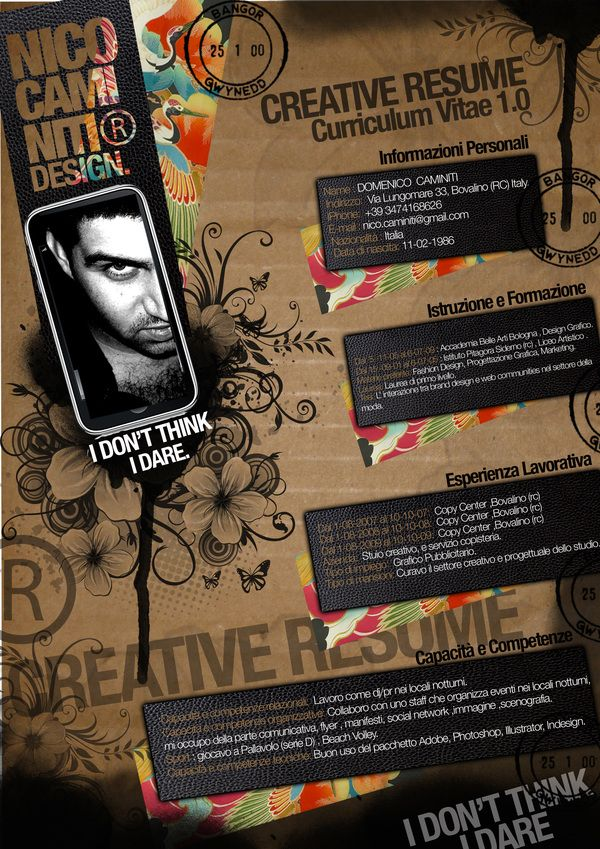 Graphic Design Creative Cv Google Search With Images