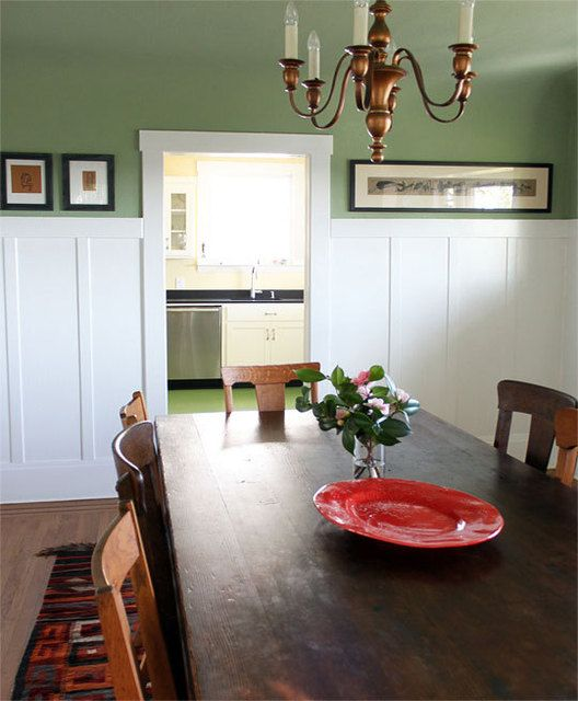 Board and Batten for the dining room...I'd like to do this!
