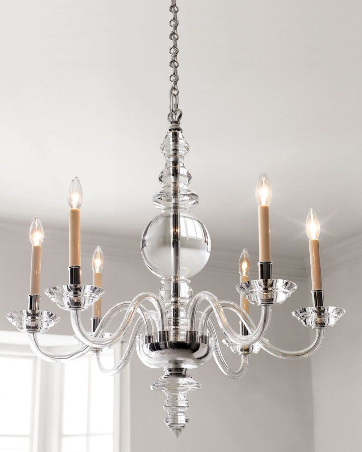 i heart this! Visual Comfort Thomas OBrien Large Ziyi Chandelier in Hand-Rubbed