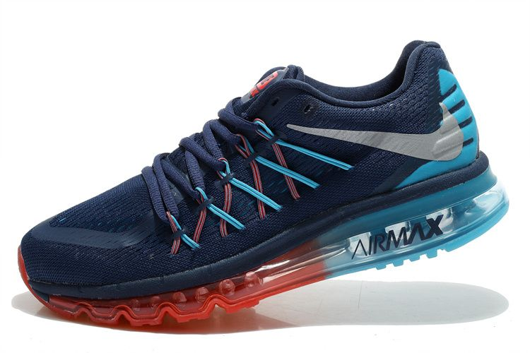 cdadc877318d ... ireland nike air max 2015 mens rainbow midnight blue dodger blue blood  red shoes 2015 c03e4