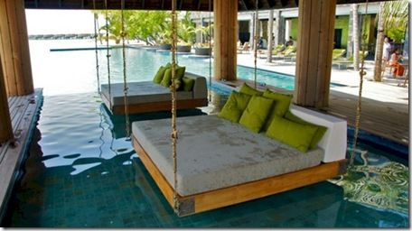 Pool Beds anantara kihavah swinging pool bed | places i want to see