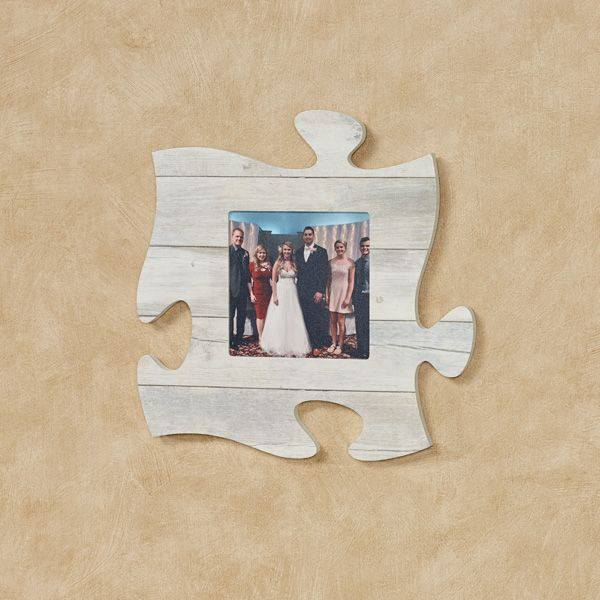 Weathered White Photo Frame Puzzle Piece Wall Art Picture This