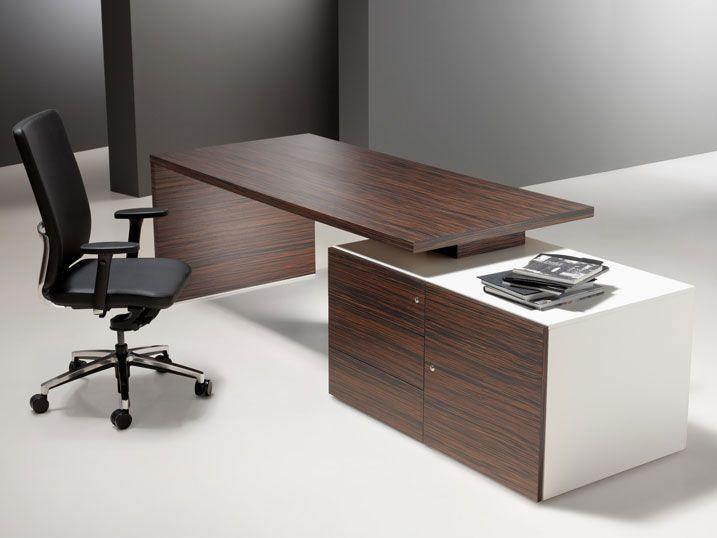 Escritorio de director moderno en madera comercial for Muebles oficina minimalista