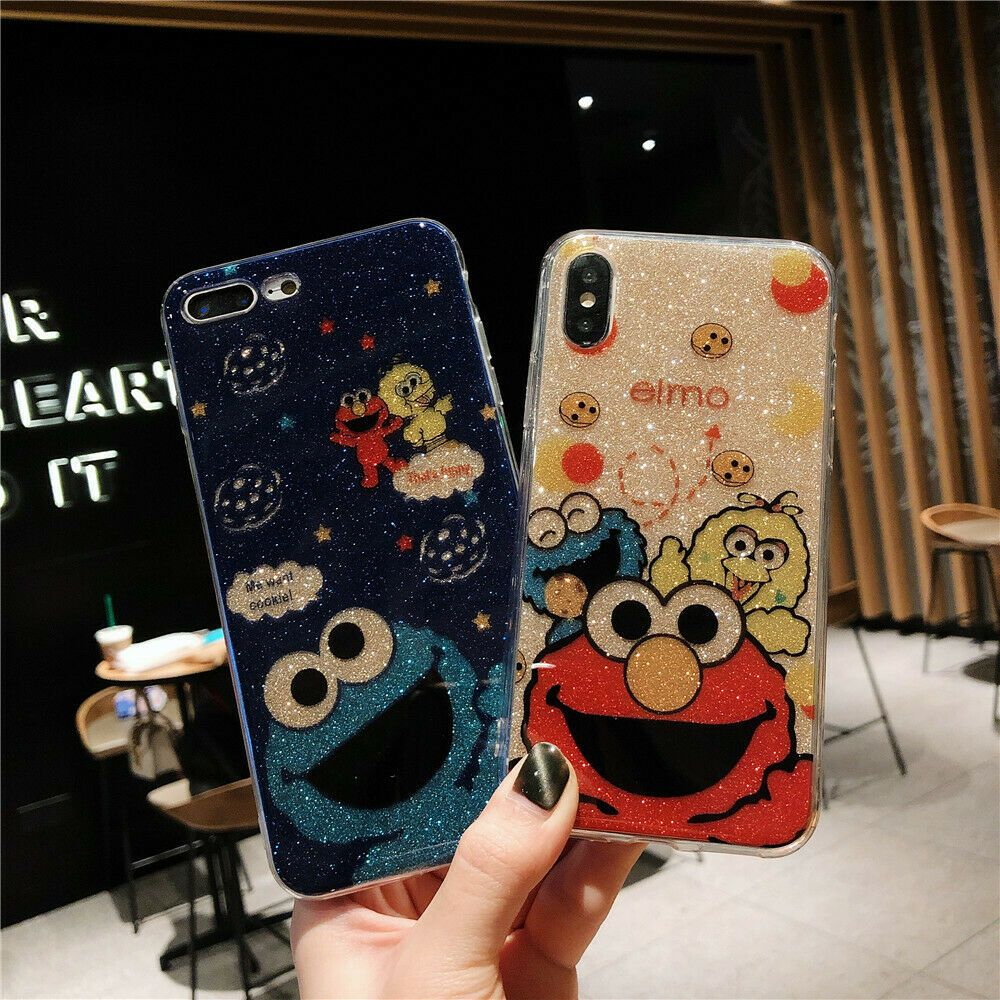 9e4761d0484fa Case For iPhone XS Max XR 8 7 6s 6 Plus Cute Glitter Cartoon Painted ...