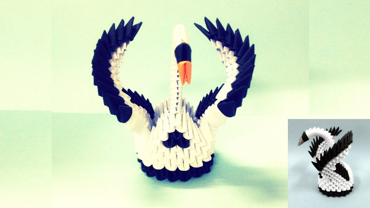 3d origami small swan 3d origami pinterest 3d origami 3d origami small swan download video3d jeuxipadfo Image collections