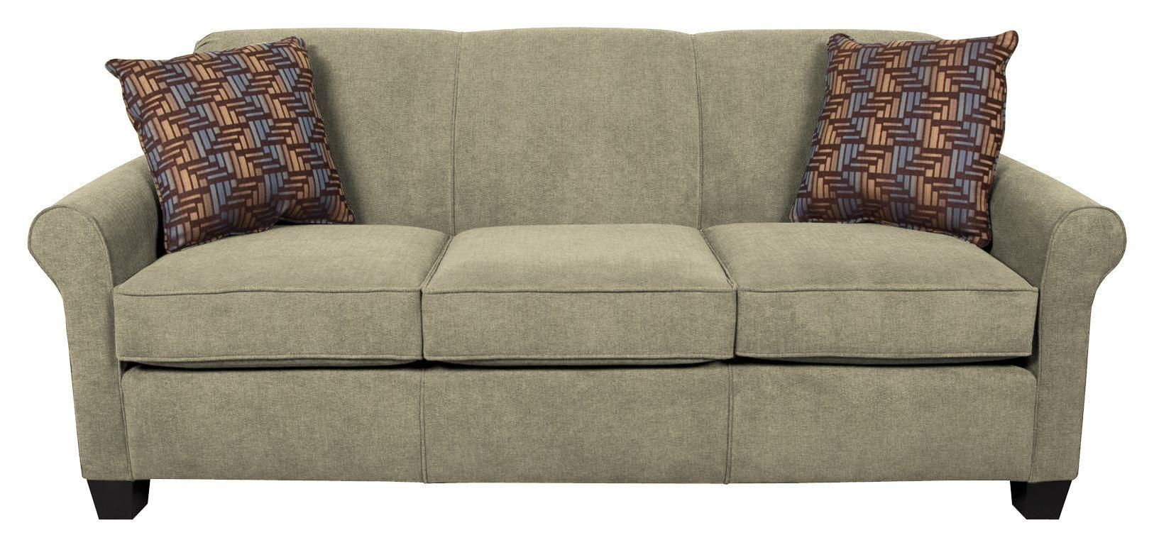 Angie Casual Stationary Sofa By England Rolled Arm Sofa