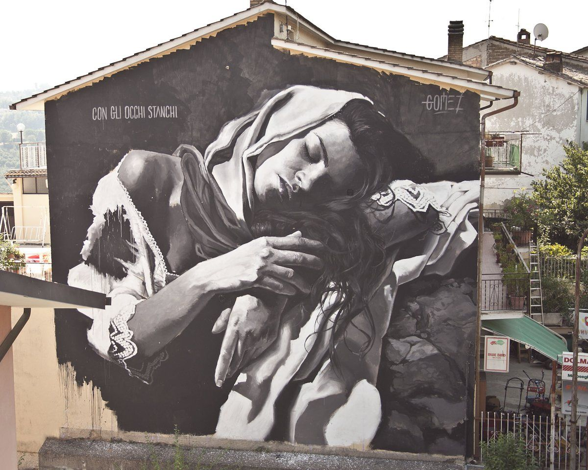 Street art masterpiece by gomez selci italy streetart