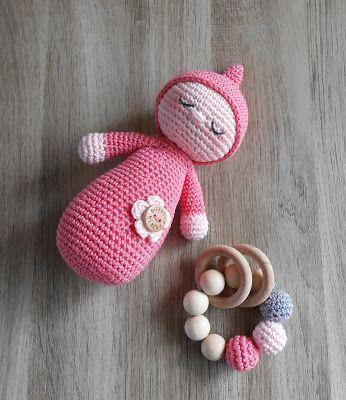 Slaappopje (Bizzy Bee Klaske) | Häkelmuster Baby, Spielzeug und ...