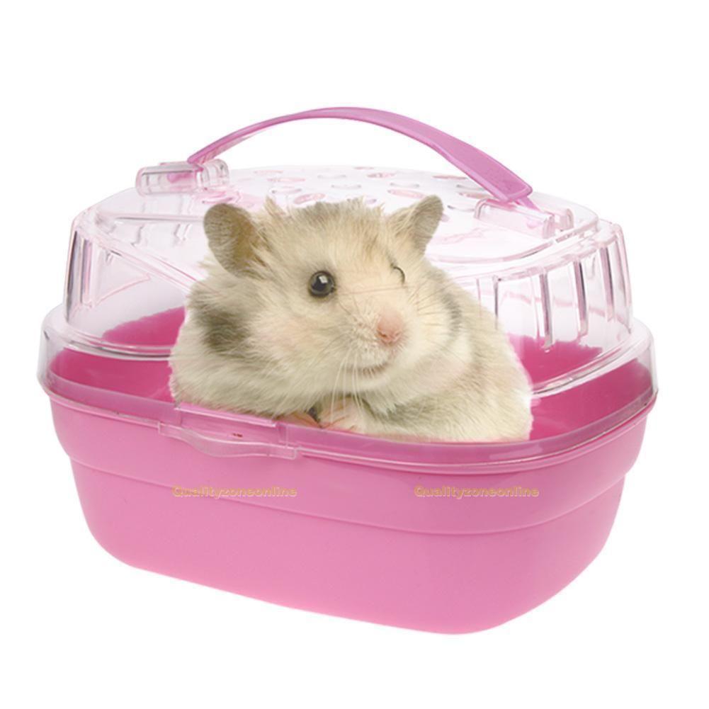 Pet Hamster House Travel Carrier Plastic Small Animal