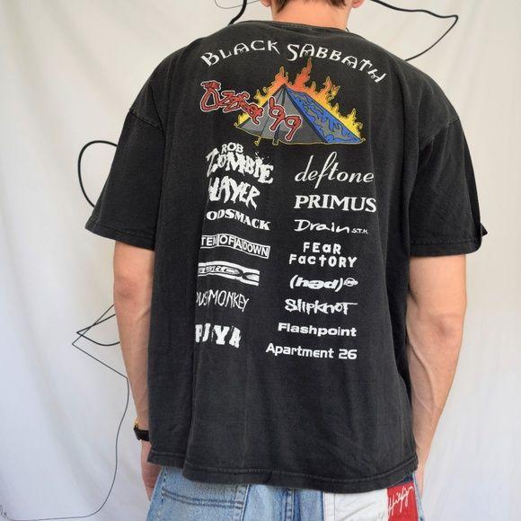 Vintage Ozzy Osbourne Ozzfest Tour T Shirt 1999 Tour T Shirts T Shirt Shirts