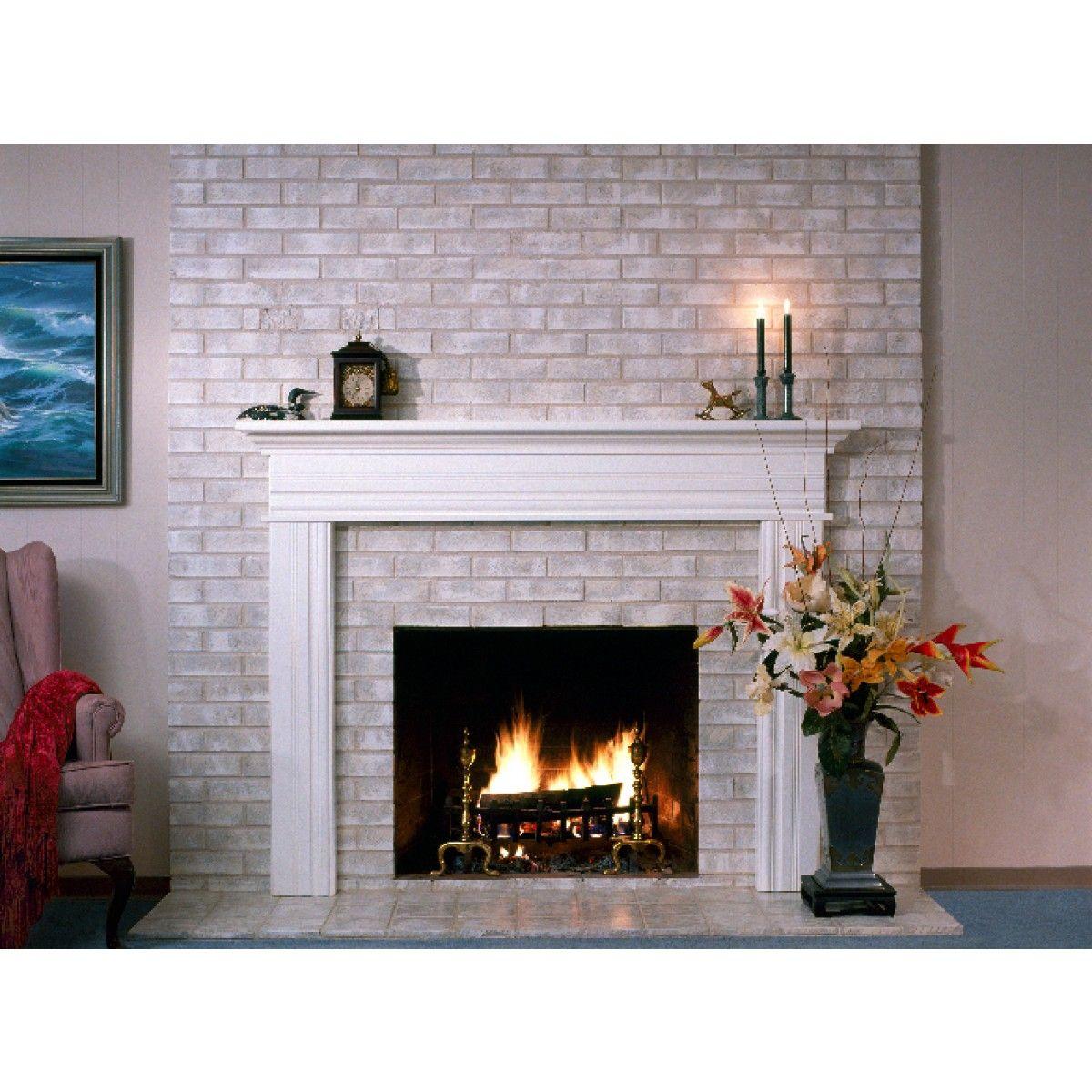 Fireplace Paint Kit Lighten Brighten Old Brick