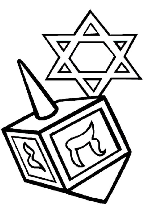 dreidel coloring pages Hanukkah Dreidel Coloring Page | Games ! | Hanukkah, Coloring  dreidel coloring pages