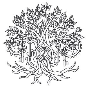 Time Tree Design UTH6889 From UrbanThreads A Clock In The Trunk And