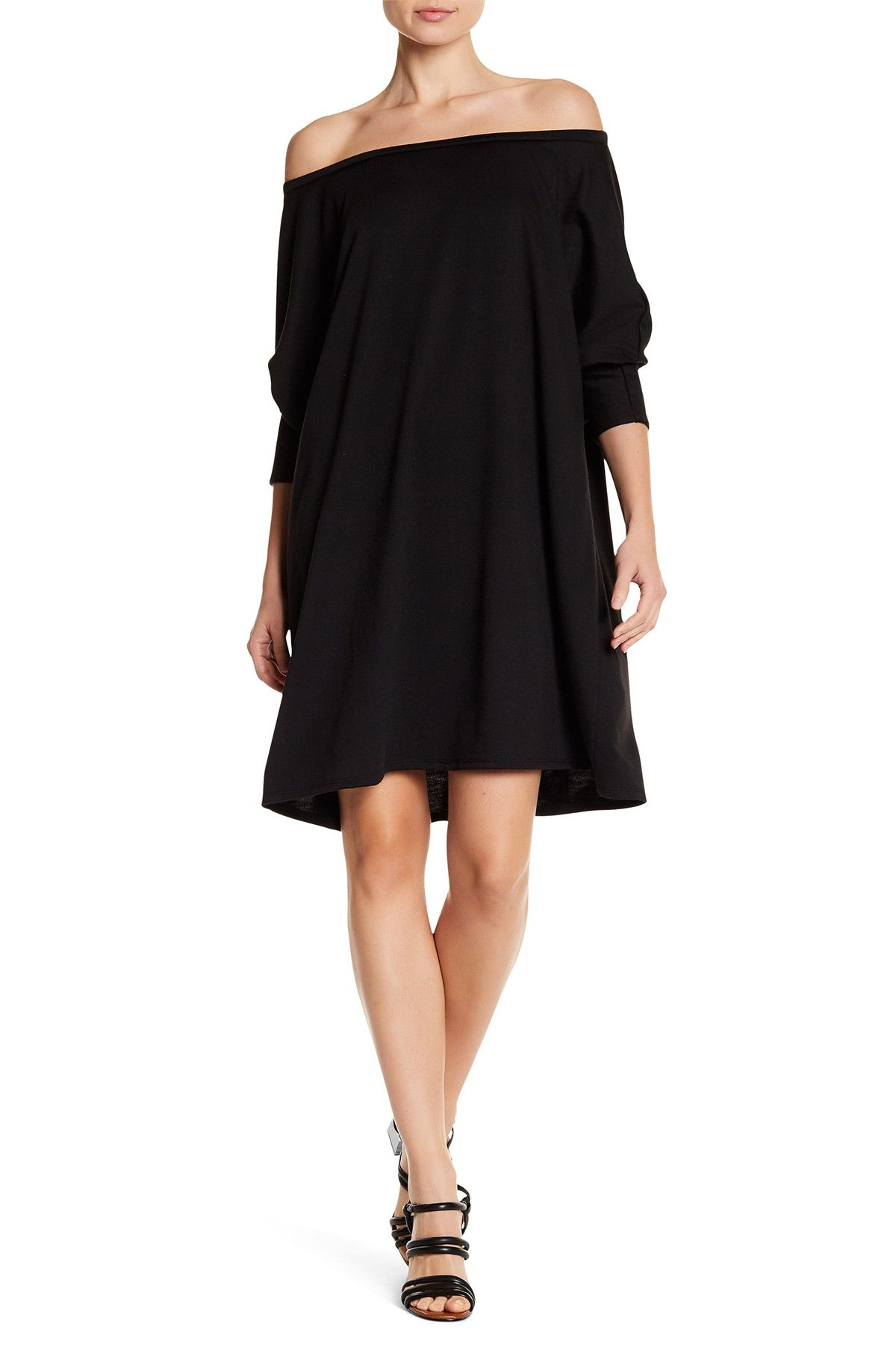 Slouchy Off-the-Shoulder Dress