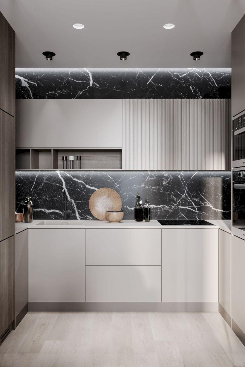 38 Modern Minimalist Kitchen Design With Granite Decoration