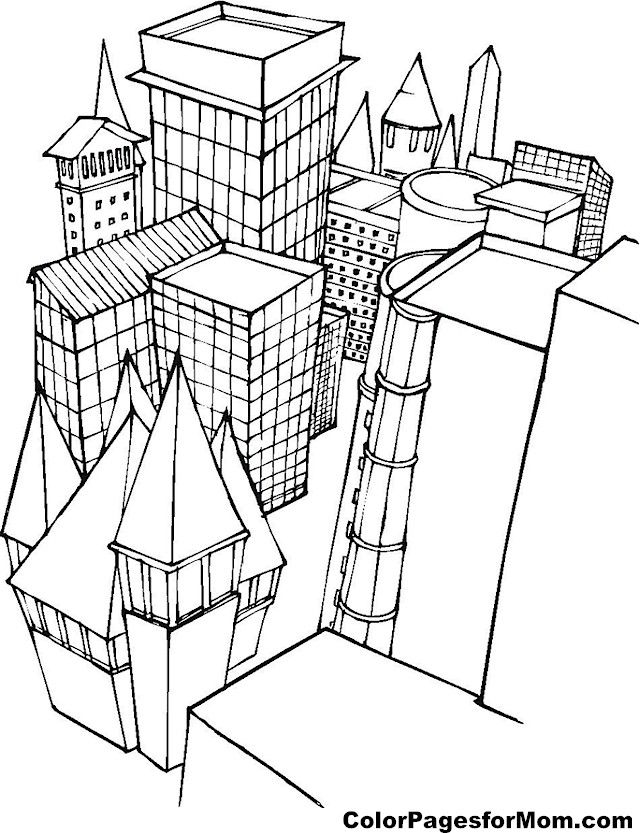 Building Coloring Page 1