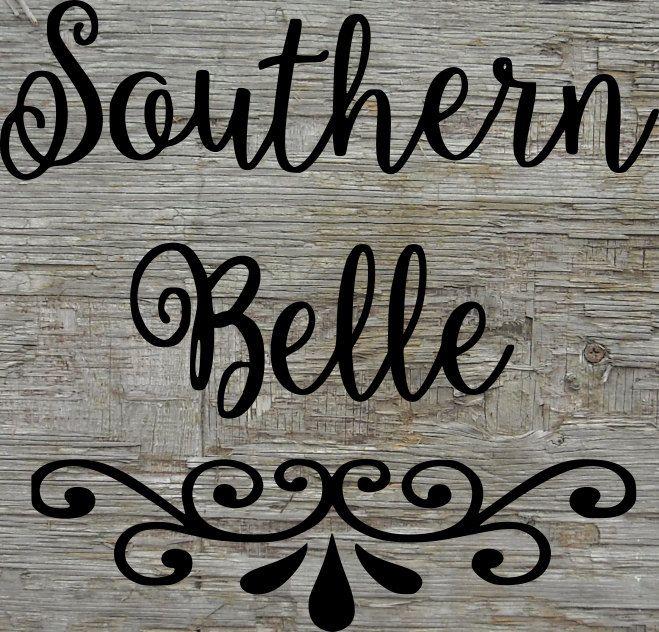 Download Southern Belle - car decal file - coffee mug file - Yeti ...