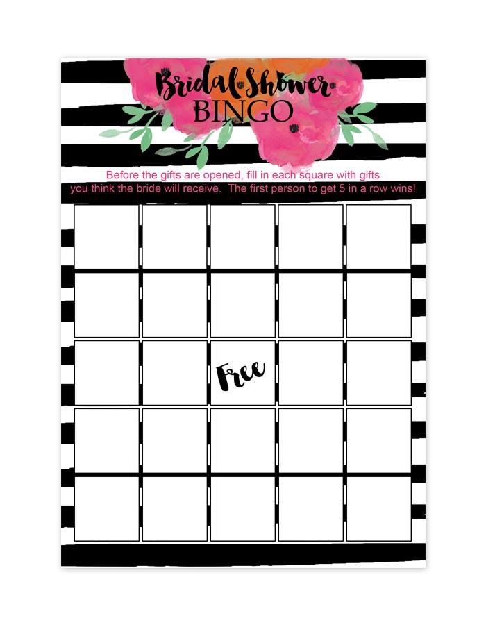 Free Printable Bridal Shower Games - Bingo   Bridal shower Tiffany ...
