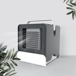 Portable Mini Usb Air Conditioner Desk Fan Cooling Humidifier Quiet Anion Led Cooler Desktop Fan Purifier For Home Office Black Coutlet In 2019 Cool Desktop Car Bedroom Desk Fan