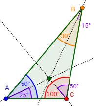 Bisectrices E Incentro De Un Triángulo Geometria Y Trigonometria Geometría Plana Geometría