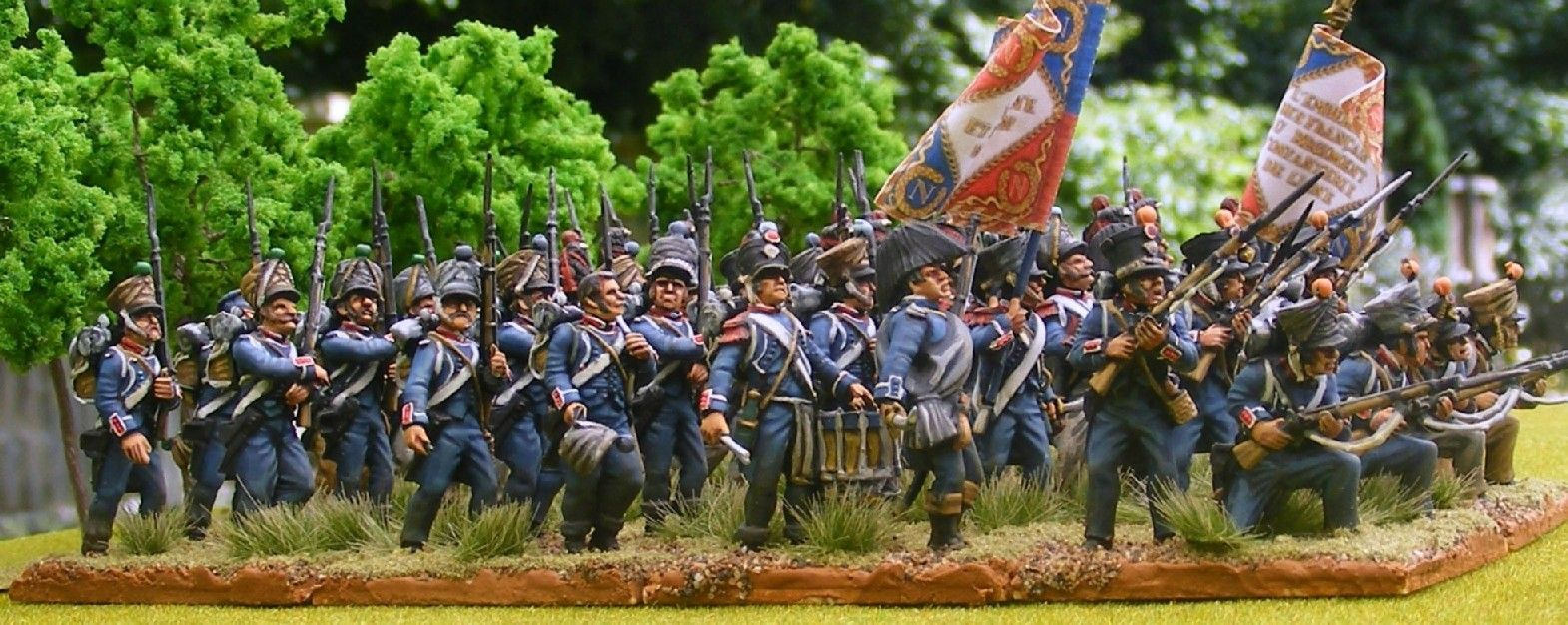 Victrix French Infantry - Painted as Light Infantry