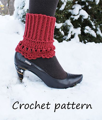 2 in 1 crochet boot cuff, boot toppers,lacy edge pattern by ...