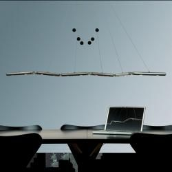 Basis Led-pendelleuchte Genua 200cm, dimmbar, 3000K Genua 3000 Kelvin 3.630.10Wohnlicht.com #pendelleuchteesstisch