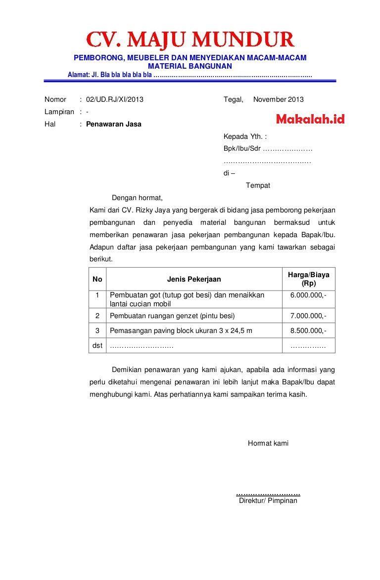 Contoh Surat Pengajuan Proposal