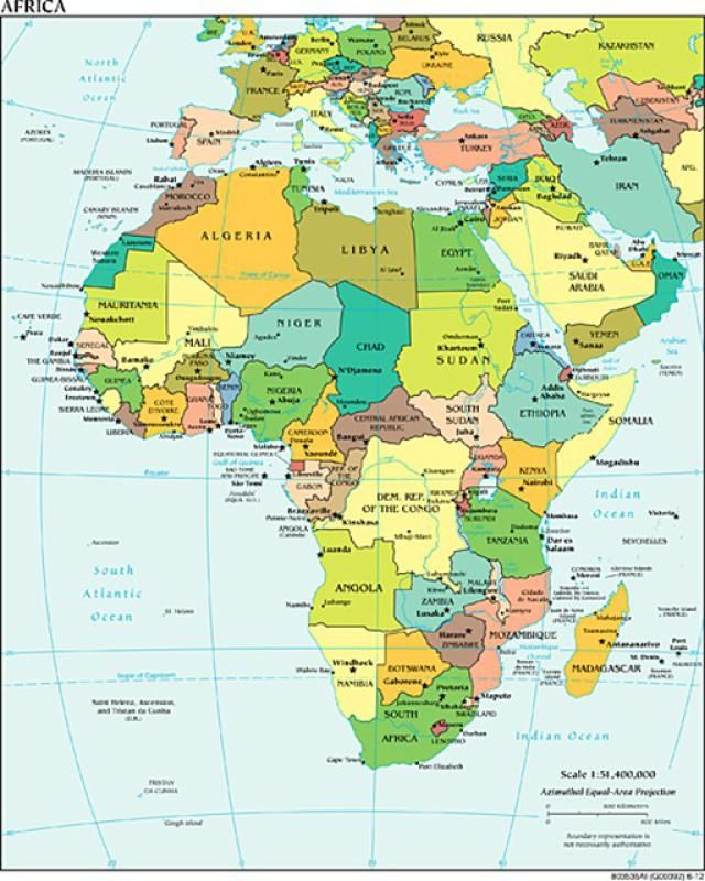Alphabetical List of All African Countries with Capitals