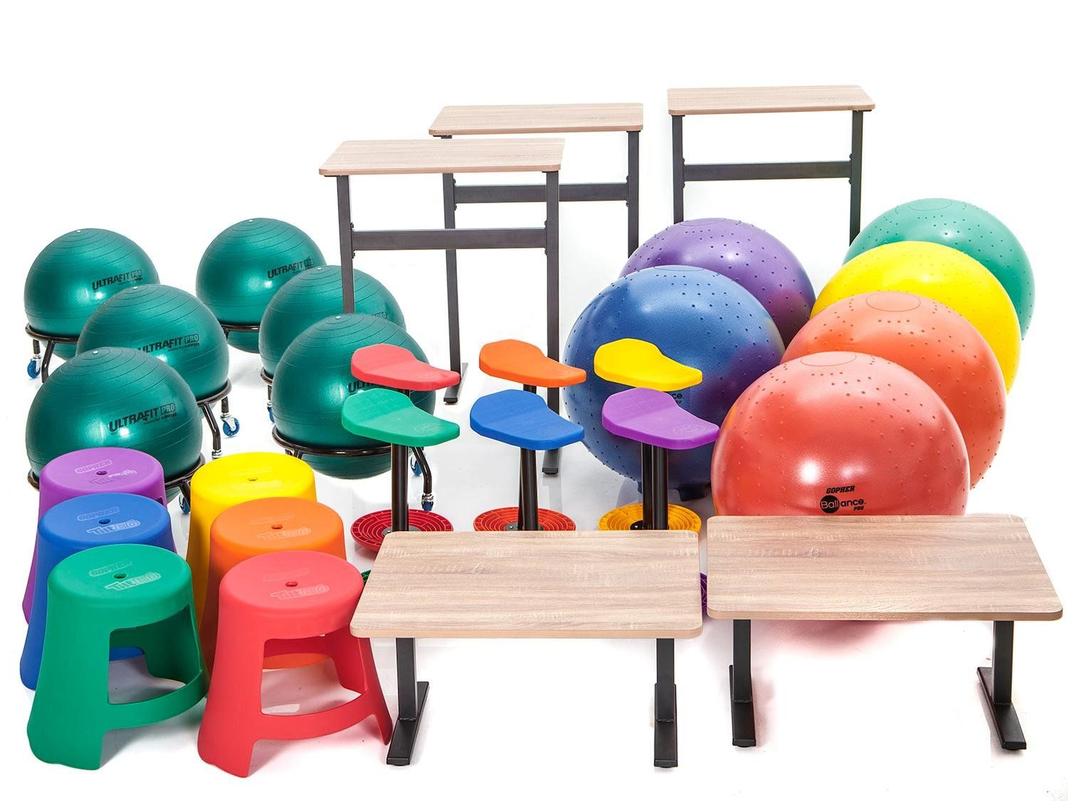 Active seating classroom premium packs with images