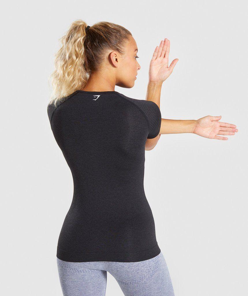 f47f2bdd Gymshark Vital Seamless T-Shirt - Black Marl | fresh Gear | Shirts ...