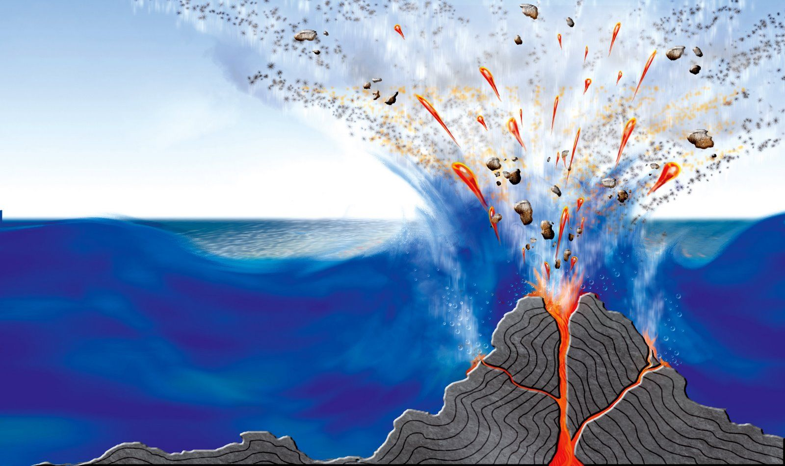 volcanos ocean information school science projects homeschool underwater welt volcanoes  [ 1600 x 951 Pixel ]