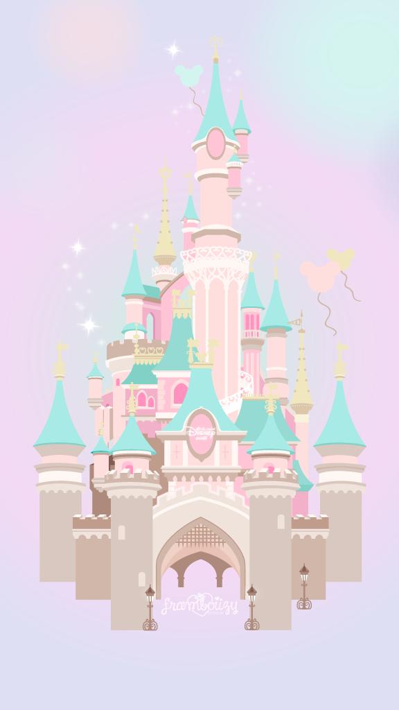 Fond D Ecran Disney Avec Des Allures De Rose Bonbon Et De Vert Menthe Chateau De Disney Fond D Ecran De Telephone Disney Disney