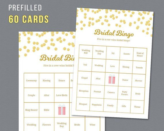 picture relating to Bridal Bingo Printable known as 60 Prefilled Bridal Bingo Playing cards + Vacant Bingo Sheet