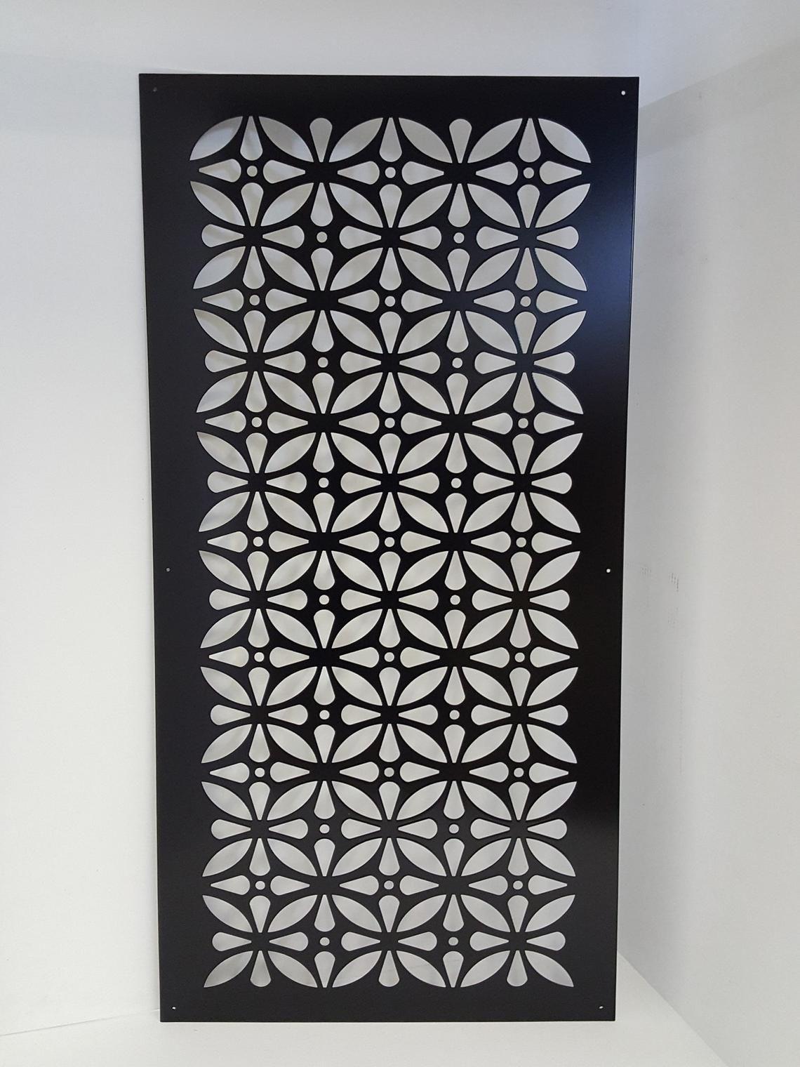HIDDENFLOWER9 - Metal Privacy Screen Decorative Panel Garden Decor